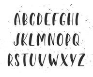 Manuscrit manuscrit de brosse de vecteur Alphabet anglais illustration de vecteur
