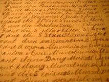 Manuscrito fotos de archivo libres de regalías