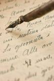 Manuscrito Fotografía de archivo