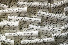 manuscrito Imagenes de archivo