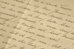 Manuscrito imágenes de archivo libres de regalías