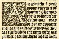 Manuscrito anticuado 1533. Imagen de archivo libre de regalías