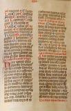 Manuscrito antigo Imagens de Stock