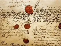 Manuscrito antiguo Fotografía de archivo libre de regalías