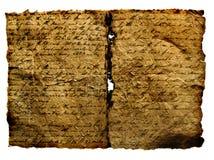 Manuscrito antiguo. Foto de archivo libre de regalías
