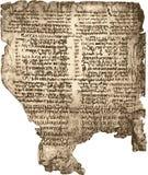 Manuscrito de la biblia. Imagen de archivo libre de regalías