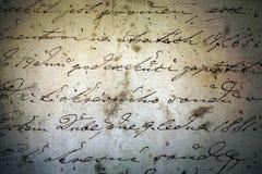 Manuscrito histórico de la tinta Imagen de archivo