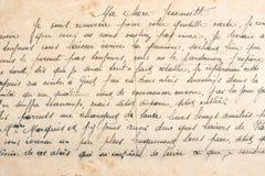 Manuscrito indefinido fondo de papel usado viejo texto de la textura imagen de archivo libre de regalías