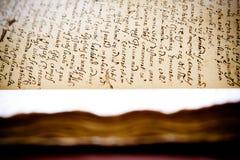 Manuscrito latino Imágenes de archivo libres de regalías