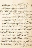 Manuscrito velho Fotos de Stock