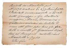 Manuscrito velho Foto de Stock Royalty Free