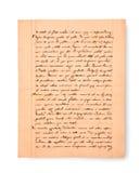Manuscrito viejo Fotografía de archivo