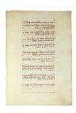 Manuscrito viejo Foto de archivo