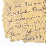Vieja escritura - circa 1881 Fotos de archivo libres de regalías