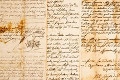 Manuscritos fotografia de stock royalty free