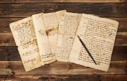 Manuscritos de Olds com ponta fotos de stock royalty free