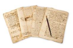 Manuscritos de Olds com ponta imagem de stock royalty free