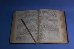 manuscritos de um artista fotos de stock