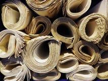 Manuscritos rolados imagem de stock