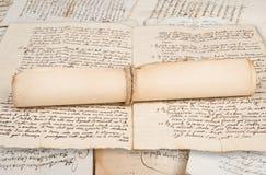 Manuscritos rolados imagem de stock royalty free