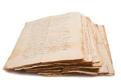 Manuscritos viejos Fotografía de archivo libre de regalías