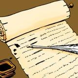 manuskript Arkivbild