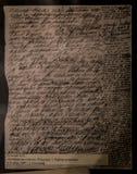Manuskript Tolstoy-` s neuen ` das Kreutzer-Sonate ` - Innenraum Leo Tolstoy State Museums in Moskau lizenzfreie stockbilder