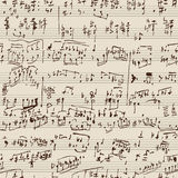 manuskriptmusik Arkivbilder