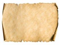 Manusript o pergamino de papel viejo orientado horizontalmente imagen de archivo libre de regalías
