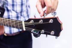 Manutenção da guitarra fotos de stock