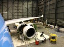 Manutenção de aviões Imagens de Stock