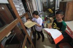 Manutenção de manuscritos antigos da herança foto de stock