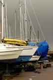 Manutenção o barco Fotografia de Stock