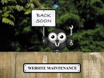 Manutenzione del sito Web Immagini Stock