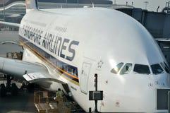 Manutenzione dell'aeroplano nell'aeroporto di Hong Kong Immagini Stock