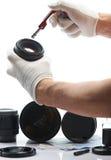 Manutenzione della lente della foto Fotografia Stock Libera da Diritti