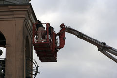 Manutenzione della torretta di Bell Fotografie Stock Libere da Diritti