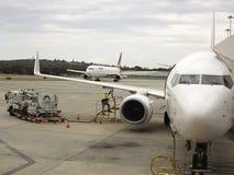 Manutenzione di aerei Fotografie Stock Libere da Diritti