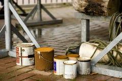 Manutenzione la barca Immagini Stock