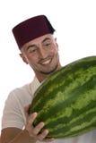 manvattenmelon Fotografering för Bildbyråer