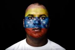 ManVenezuela Uruguay flagga Fotografering för Bildbyråer