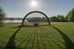 Manvers sjö Pit Head Winding Wheel Arkivfoton