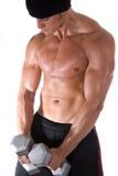 manweightlifting Fotografering för Bildbyråer