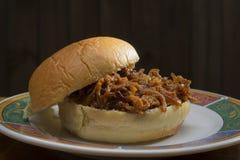 Manwich op een broodje Royalty-vrije Stock Foto