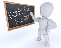 Manwith school chalk board back to school Stock Photo