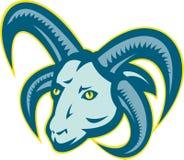 Manx Loaghtan Sheep Ram Head Mascot Stock Photography