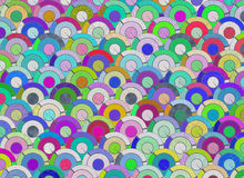 Many abstract curled rounds backgrounds Royalty Free Stock Photo