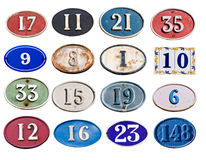Many address plate Stock Images