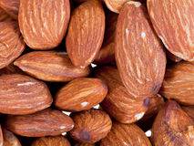 Many almond nuts Royalty Free Stock Photo