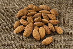 Many almonds Stock Image